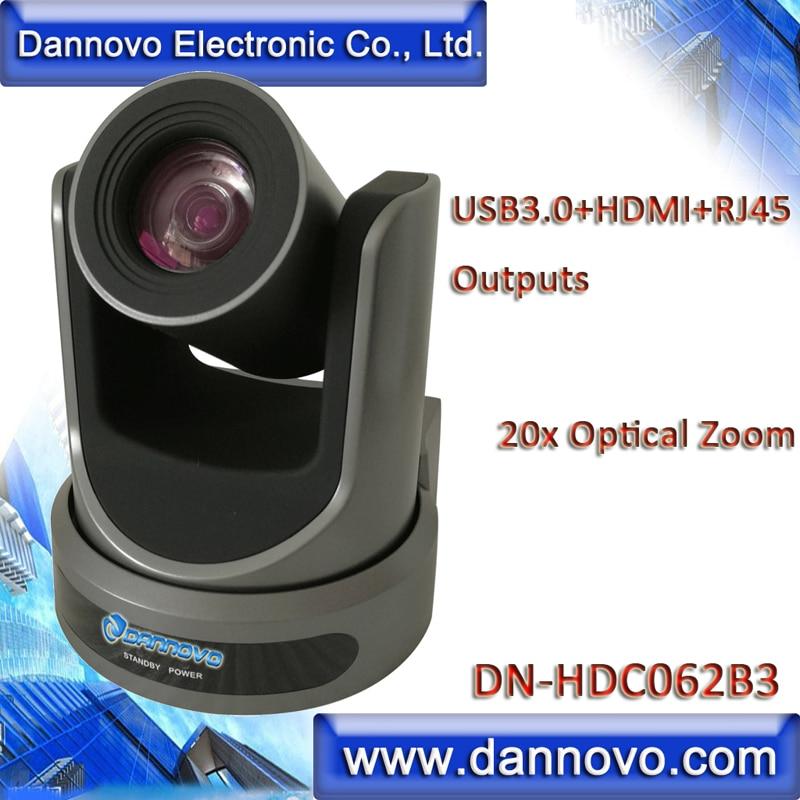 شحن مجاني: DANNOVO USB3.0 HDMI IP كاميرا فيديو للمؤتمرات 20x التكبير ، RTSP ، ONVIF ، قوية USB3.0 كاميرا متحركة (DN-HDC062B3)