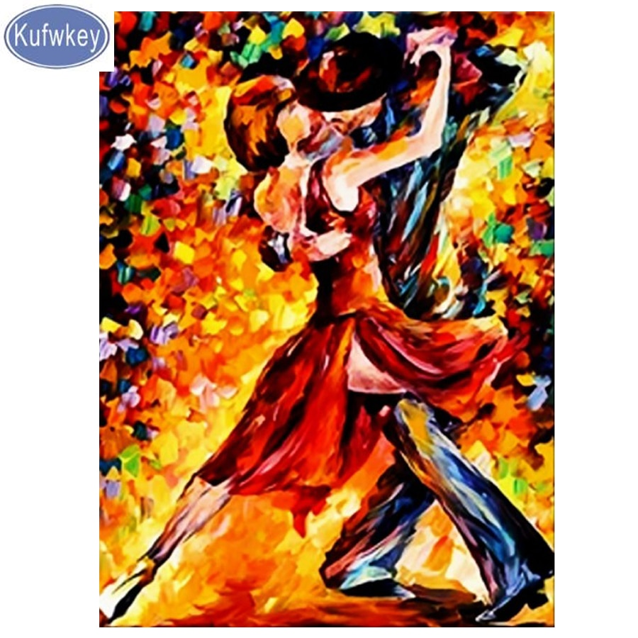Tango dancers painting,Diamond Painting Cross Stitch kits,Diamond Embroidery picture of Rhinestone Handmade,Wall Room decoration