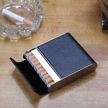 Étui conteneur de Cigarette en cuir 20 pièces   Boîte à cigarettes, porte-Cigarette, Mini boîte de rangement, cadeau père homme ami amant