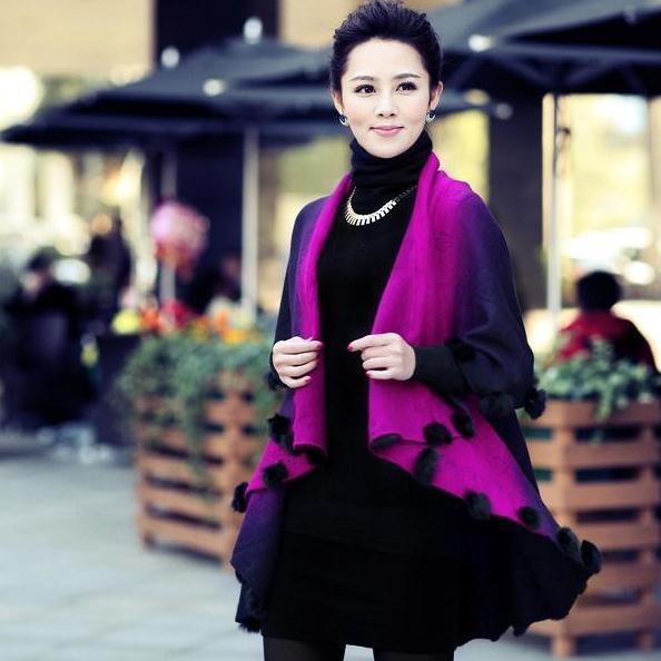 Spring And Autumn Sweater women woolen coat long cardigan sweater shawl cape cloak bat sleeved women