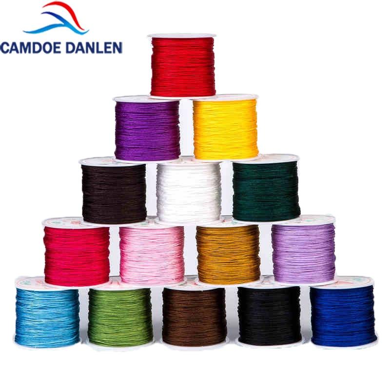 CAMDOE DANLEN 1mm X 95M Nylon Chinese Knot Knotting Kumihimo Macrame Cord Braided DIY Beading Shamballa String Thread Wire Line
