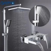 GAPPO     systeme de douche pour salle de bain  pommeau de douche mural  melangeur de bain pluie chrome poli