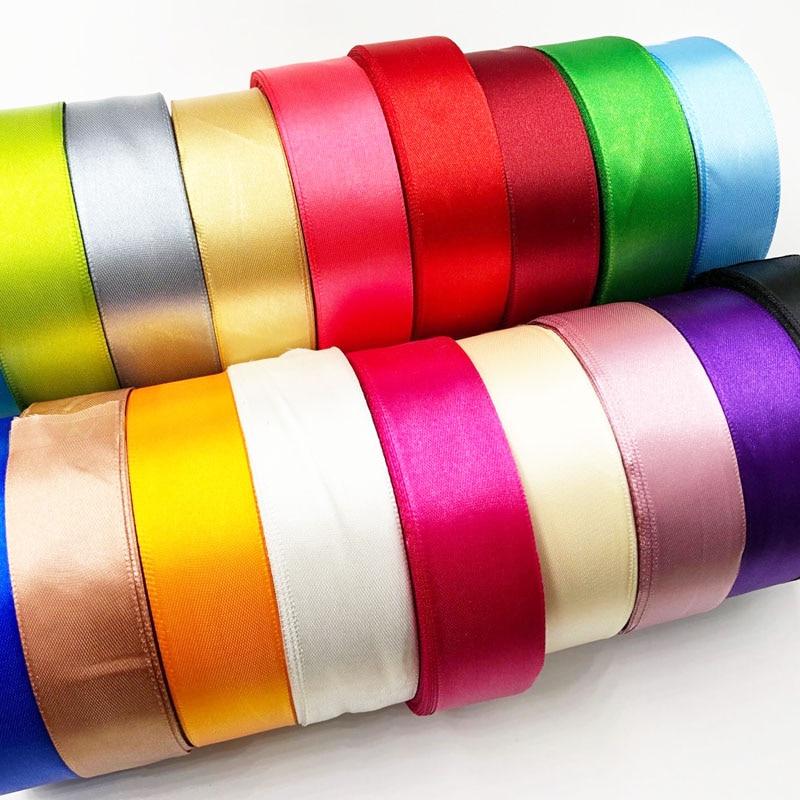 "5 metros 1 ""25mm Colores Sólidos cintas de satén"