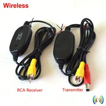 2,4G Drahtloser Rca-video Sender Empfänger Kit für Auto DVD-Monitor Hintere Ansicht-rückseite Parkplatz Rückfahrkamera