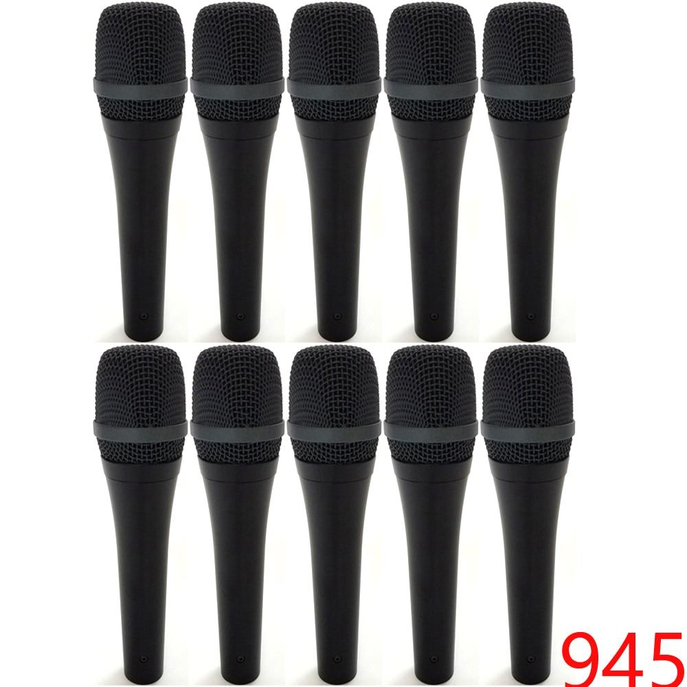 10 шт. 945 суперкардиоидный микрофон бренды настоящие микрофоны идеальное живое звуковое сценическое оборудование Вокальный динамический ми...