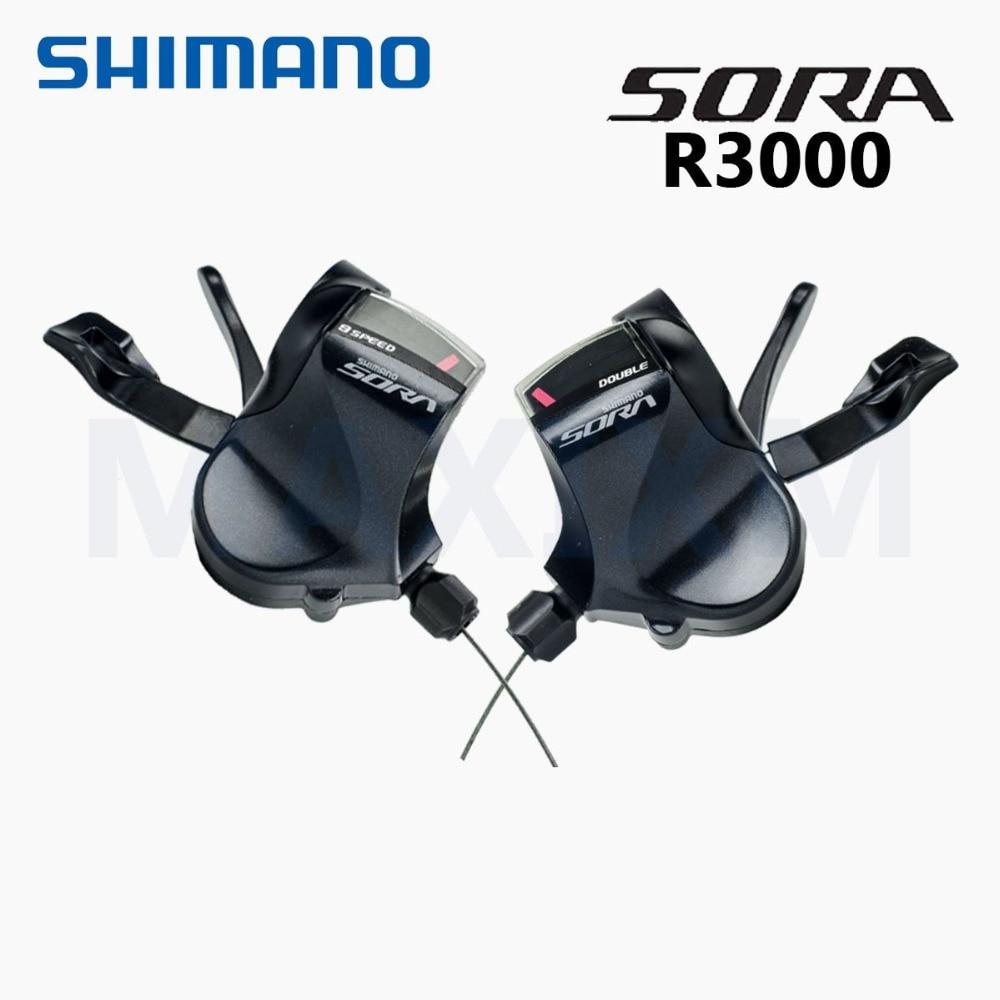 Palanca de cambio de bicicleta de barra plana Shimano Sora SL-R3000 bicicleta de 2*9 velocidades