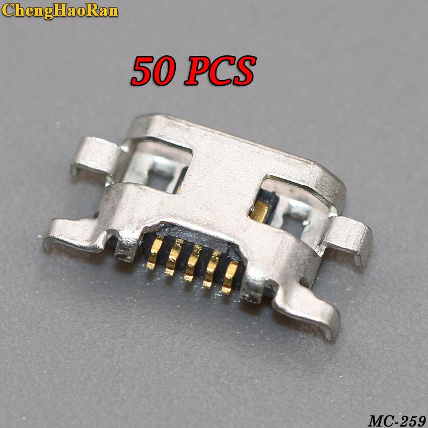 ChengHaoRan 50pcs Micro USB Jack Connector Port Charging Socket  for Motorola Moto G2 G+1 XT1068 XT1069 XT1063 XT1064 XT1072