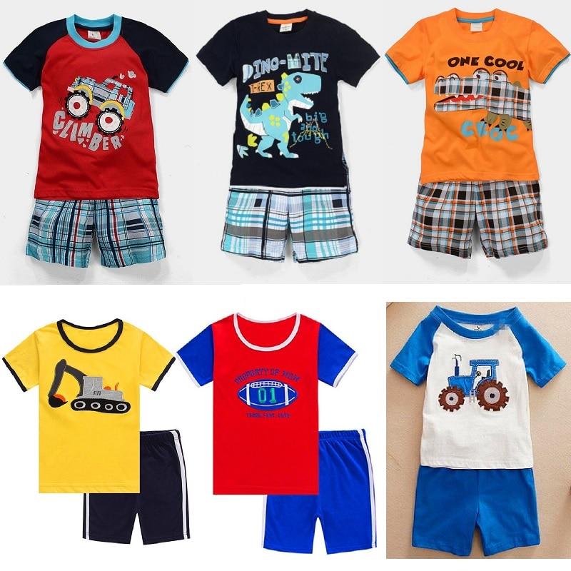 2018 Baby Boy Clothes Suits Summer Children T-Shirts Shorts Pant 2-Piece Clothing Set Beach Kids Outfits Sport Suit 2 3 4 5 6 7Y
