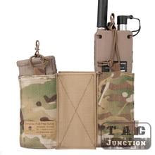 Pochette Radio MBITR tactique Emerson et pochette chargeur M4 5.56 ensemble combiné avec crochet et boucle pour chasse militaire, tir de Paintball