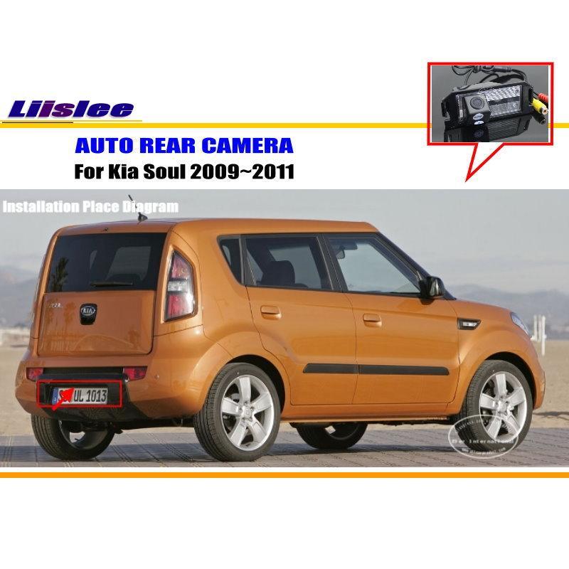 Liislee Автомобильная задняя камера для Kia Soul 2009 ~ 2011/задняя парковочная камера/HD CCD RCA NTST PAL/камера номерного знака