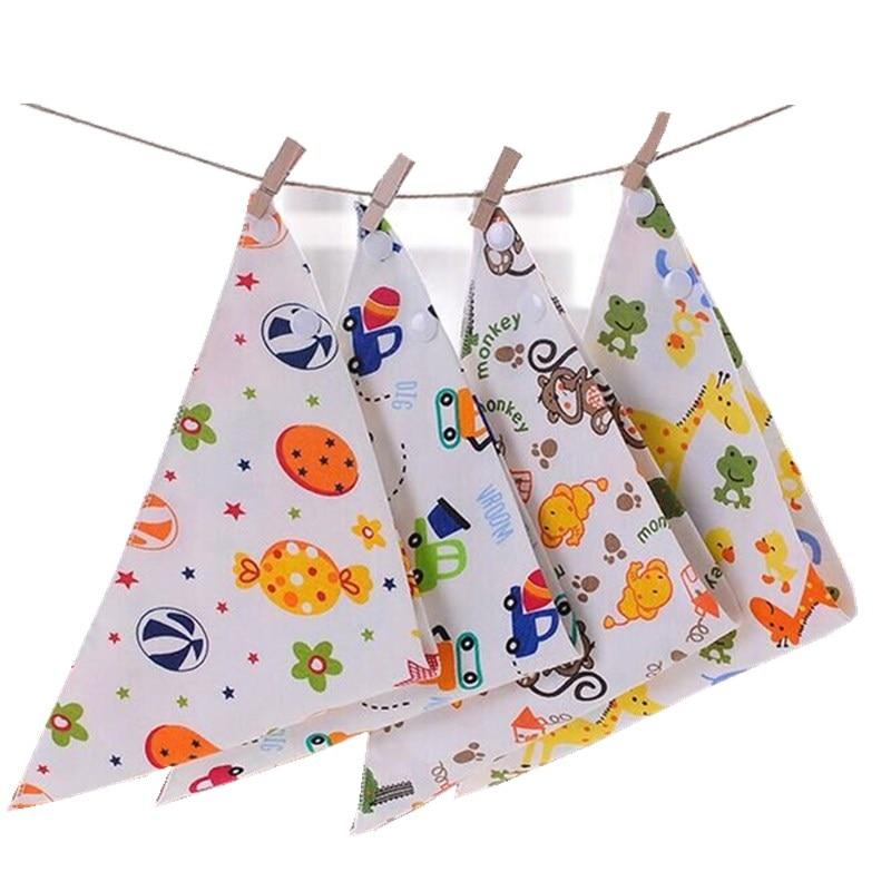 50pcs/lot High quality double layers cotton baby bibs Burp Cloths Lovely Cartoon Character Animal baby bandana dribble bibs