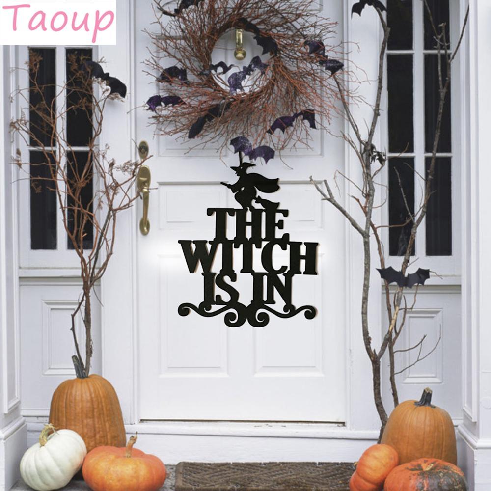 Taoup 1pc Preto Harror A Bruxa Está Em Suspensão Pingentes Enfeites do Dia Das Bruxas Decoração de Halloween 2018 Acessórios Adereços Favores Do Partido