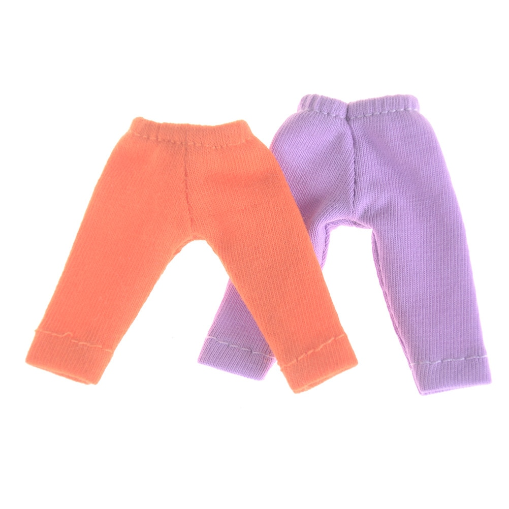Leggings de muñeca, pantalones largos de Color caramelo disponibles para Obitsu11 OB11 1/12, pantalones de muñeca BJD, accesorios de ropa