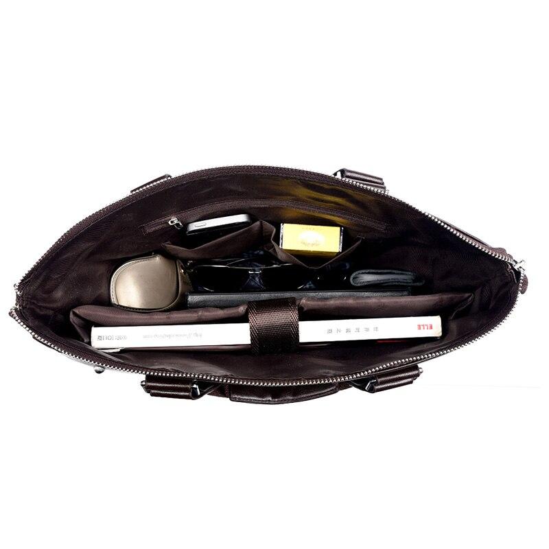 Moška aktovka poslovna ramenska torba usnjene messenger torbe torba - Aktovke - Fotografija 6