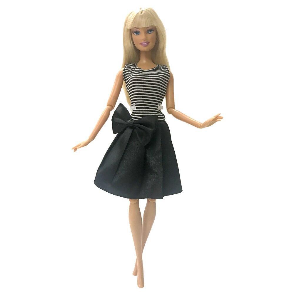 NK One Uds 2020 ropa de muñeca hermosa fiesta atuendo moda vestido para muñeca Barbie Rosa arco gasa bebé juguetes 085A DZ