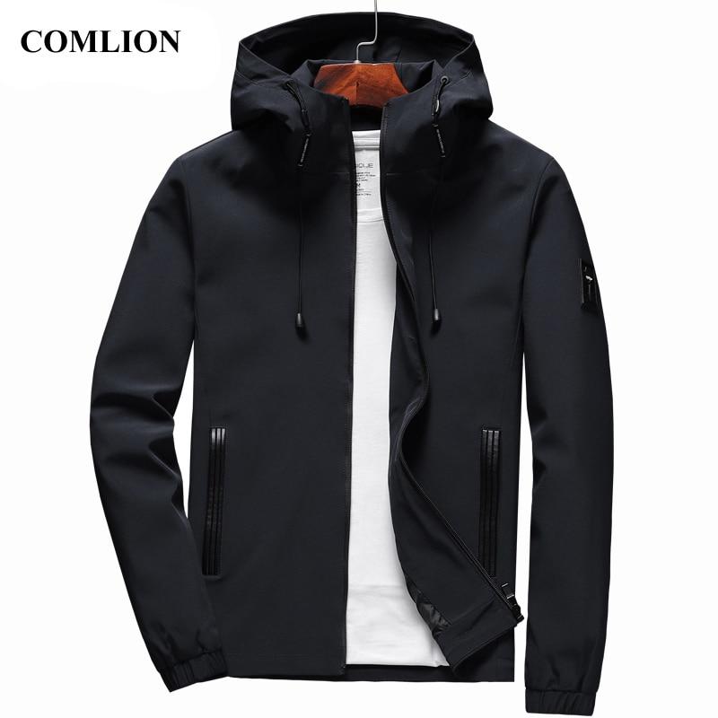 Куртка мужская, повседневная, с капюшоном, на молнии