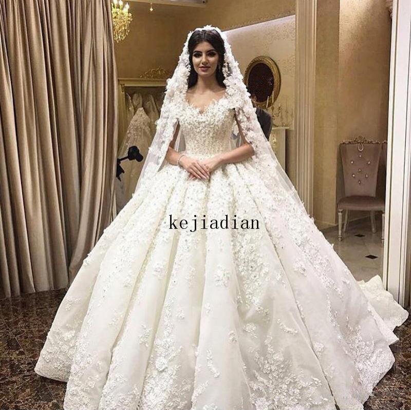 فستان زفاف ملكي فاخر ثلاثي الأبعاد مزين بالزهور ، دانتيل Shulder ، مقاس كبير ، مصنوع حسب الطلب ، مجموعة 2021