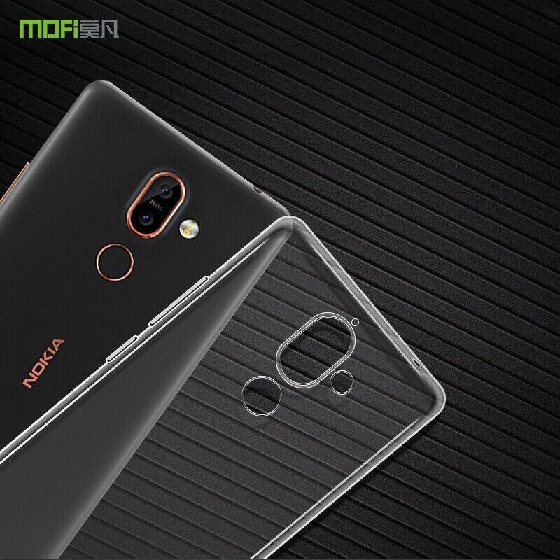 Para Nokia7 Plus Original MOFi Ultra delgado gel de silicona TPU suave transparente funda protectora de teléfono para Nokia 7 Plus