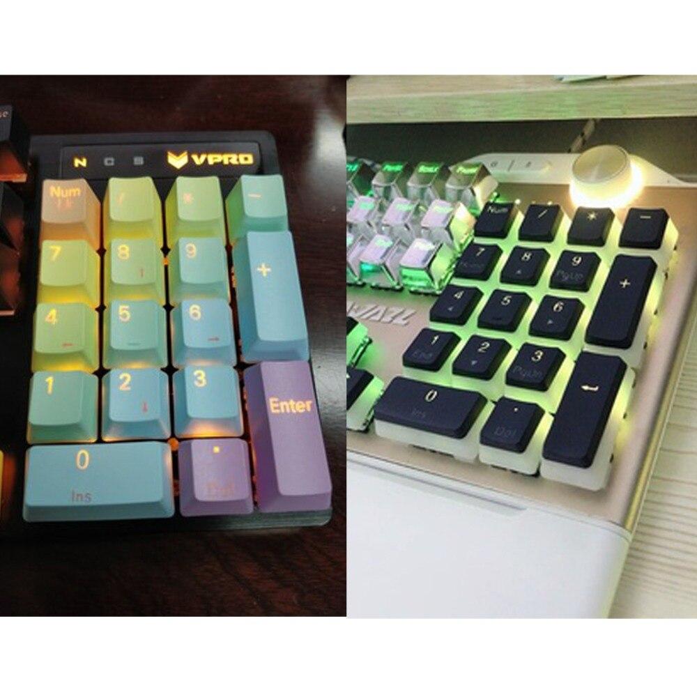 Aberto-smart 17 chave rgb topo impresso pbt tiro backlit keycap para cherry mx interruptores numpad teclado mecânico