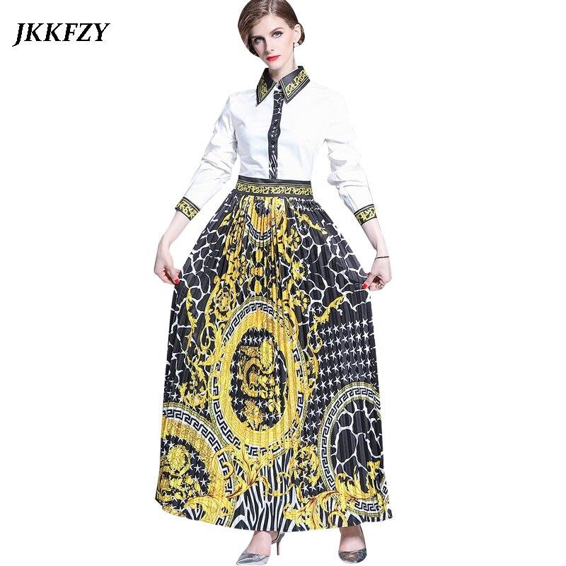 Designer Runway Shirt Dress Buttoned Long Sleeve Turn Down Collar Pleated Dress Elegant Slim Vintage Dress for Women Vestidos