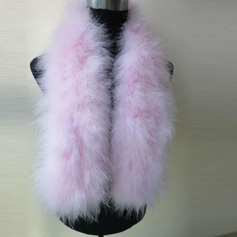 Scarf Women's Real Ostrich Fur Scarves Lady Winter Warm Wrap Fashion Pink