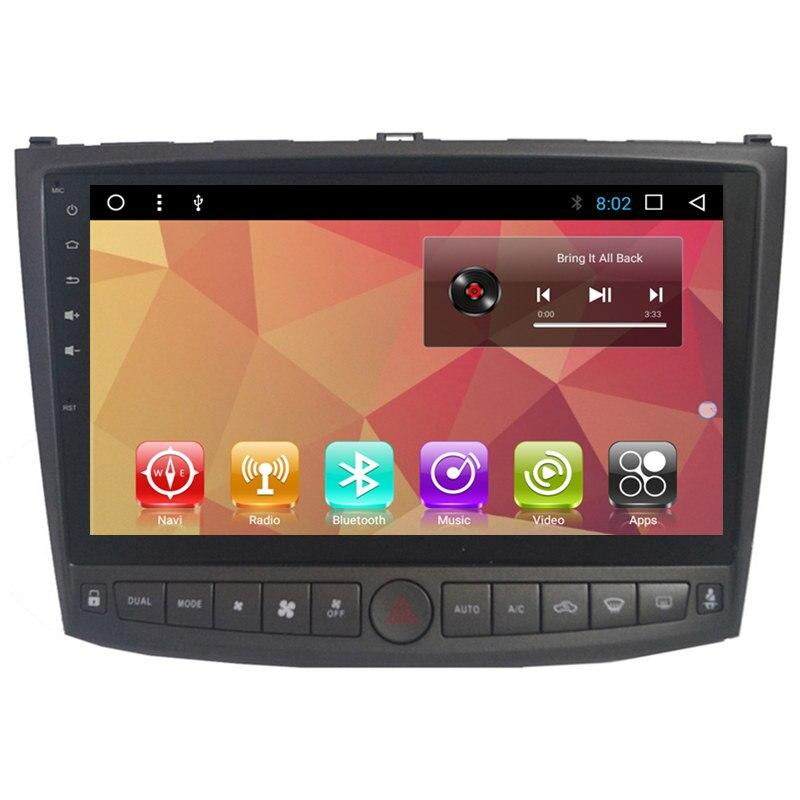 "10.1 ""Android Stereo Car Multimedia Navegação GPS Unidade de Cabeça DVD Radio Audio Sat Nav para Lexus Is IS200 IS220 IS250 IS300 IS330"