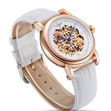 OUYAWEI montre femme Kadin Saat squelette cadran dames montre mécanique strass montre-bracelet 42mm grand boîtier relojes mujer