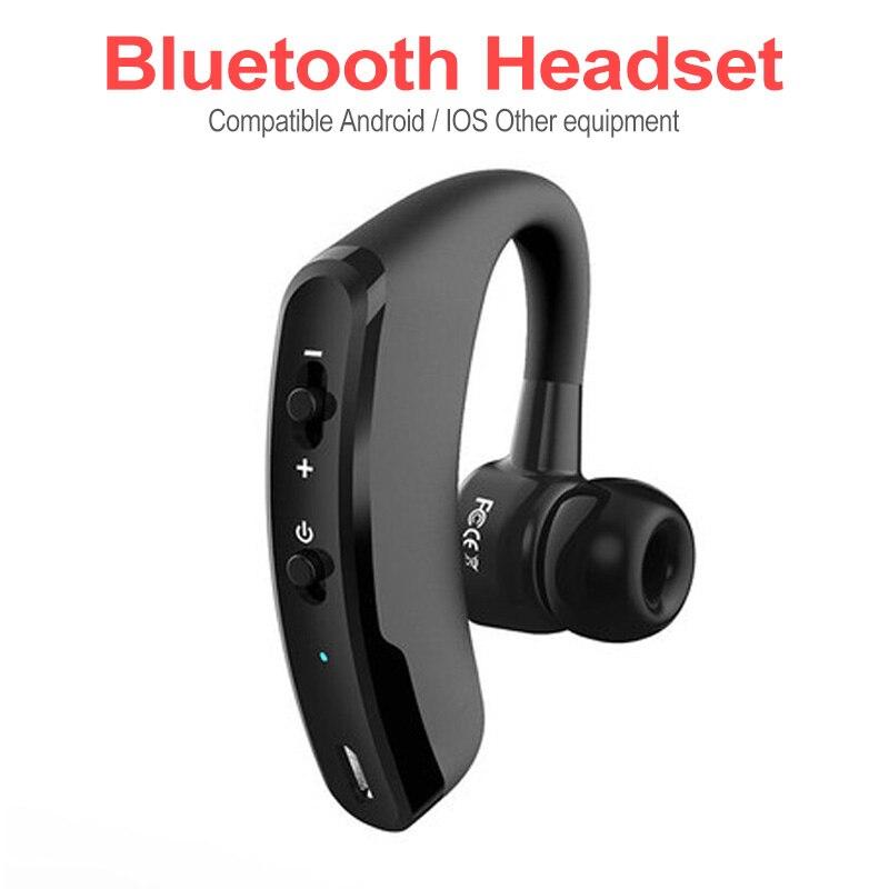 Auriculares Bluetooth inalámbricos de negocios con Control de ruido V9 manos libres Auriculares inalámbricos con Bluetooth con micrófono para Driver Sport