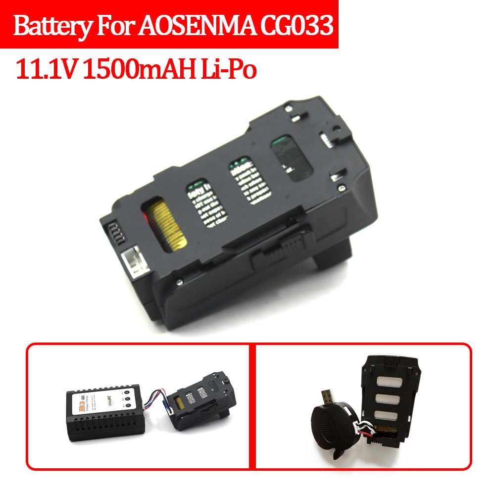 RC Battery CG033 GPS Drone Spare Battery 11.1V 1500mAH Li-Po Spare Part Wifi FPV Drone Quadcopter