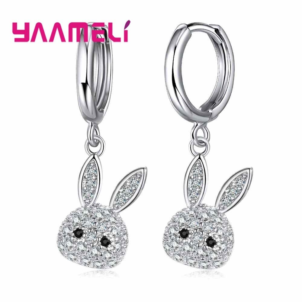 Хит-продаж-милые-ювелирные-изделия-в-форме-кролика-для-женщин-и-девочек-серьги-гвоздики-из-стерлингового-серебра-925-пробы-распродажа-аксе