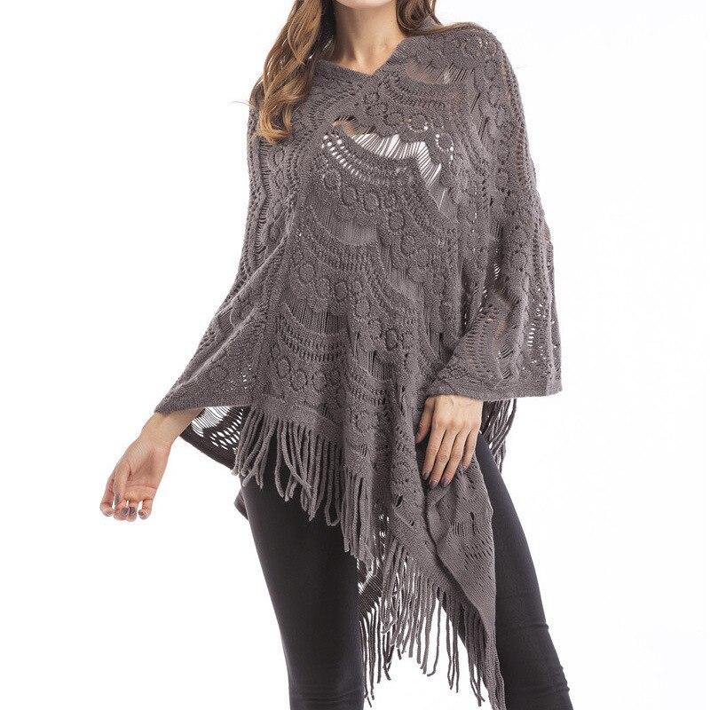Jerseys y jerseys de mujer de marca BYUAN 2018 primavera moda Otoño Jersey capa fina manga de murciélago borla de punto suéter