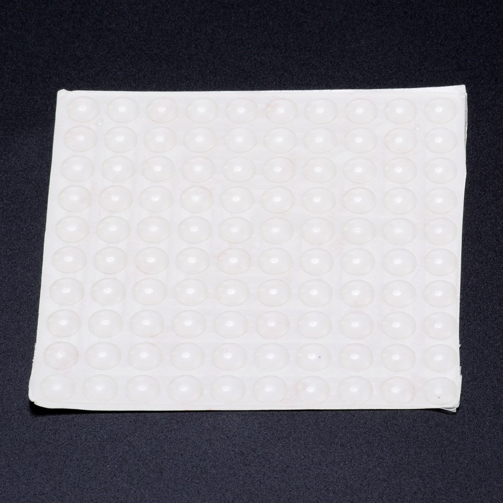 100PCS Selbstklebende Tür Puffer Pad Gummi Silikon Füße Schrank Schubladen Klar Halbkreis Stoßstangen Möbel Tür Zubehör