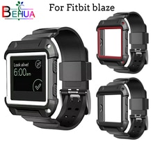 2in1 Silicone Strap + Case Cover frame watchbands for Fitbit Blaze smart watch band Sports outdoor S