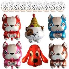 Ücretsiz kargo 1 adet/grup köpek ayak lateks balonlar çocuk günü doğum günü partisi dekorasyon Bulldog balonlar toptan