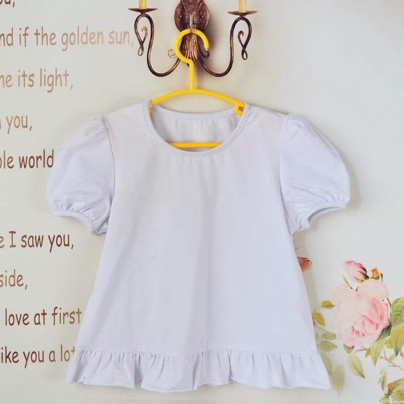 Camiseta blanca para niños, camisetas de manga corta, camisetas de verano para niños, ropa lisa de princesa para niñas, ropa de algodón de alta calidad