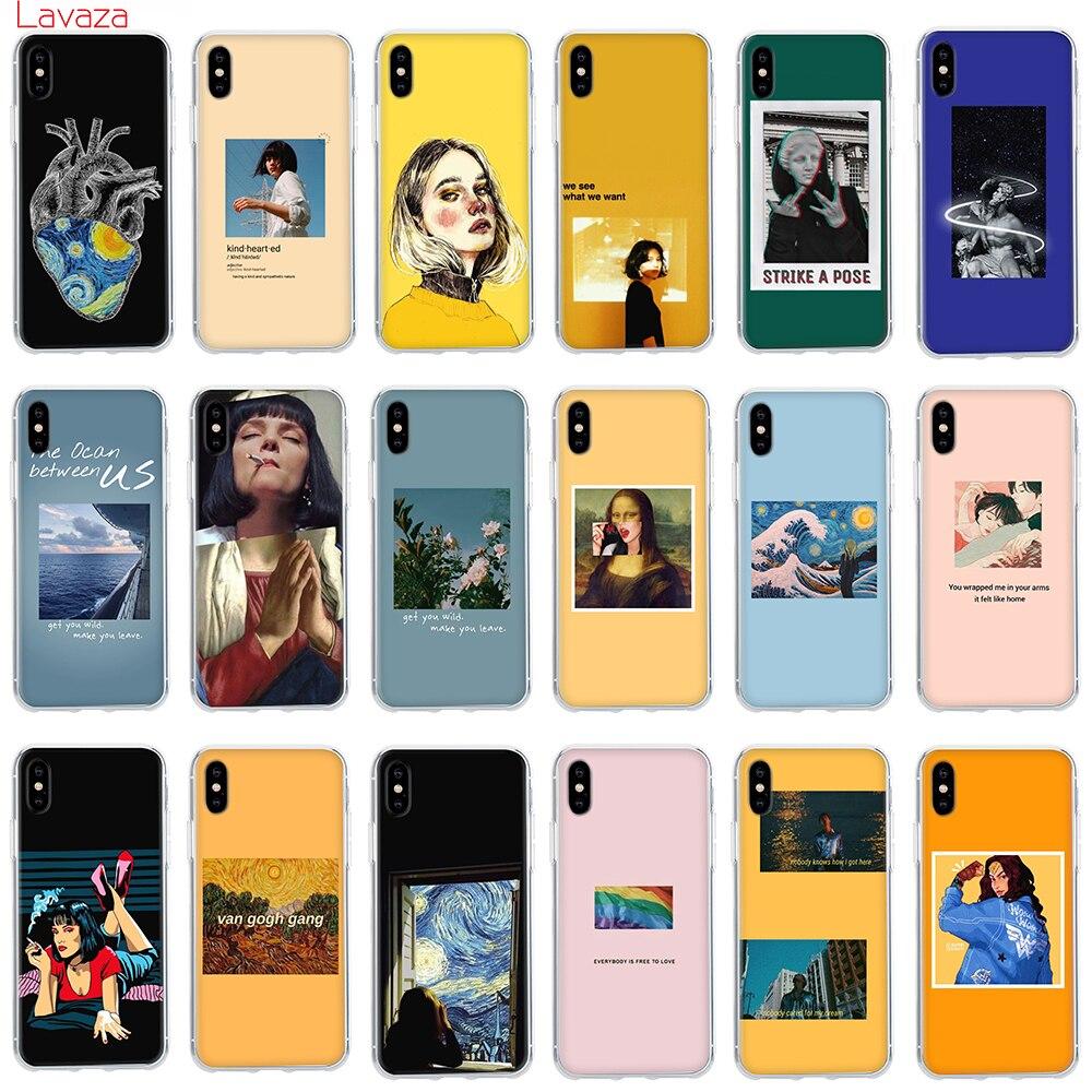 Lavaza gran arte estética van Gogh Mona Lisa caso duro para iPhone 6 De Apple 6s 6 7 8 Plus X 5 5S SE XS funda Max XR