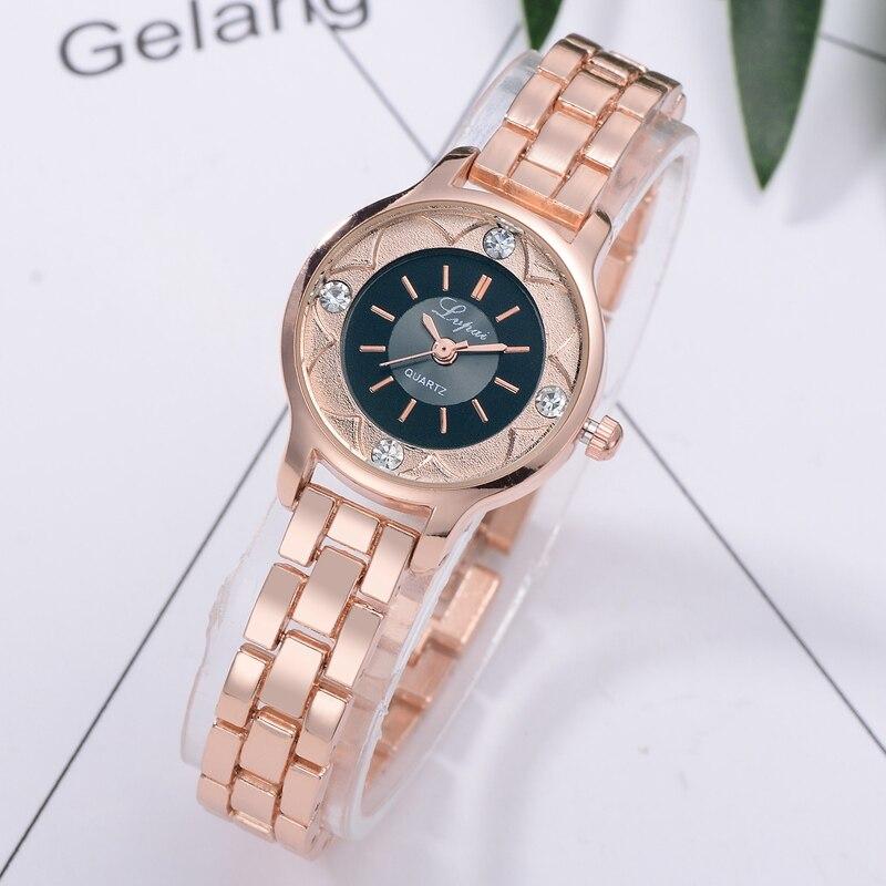 2020 Top Fashion Watch Women Luxury Brand Wristwatch Ladies Lvpai Women Watches Steel Band Bracelet Quartz Clock montre femme