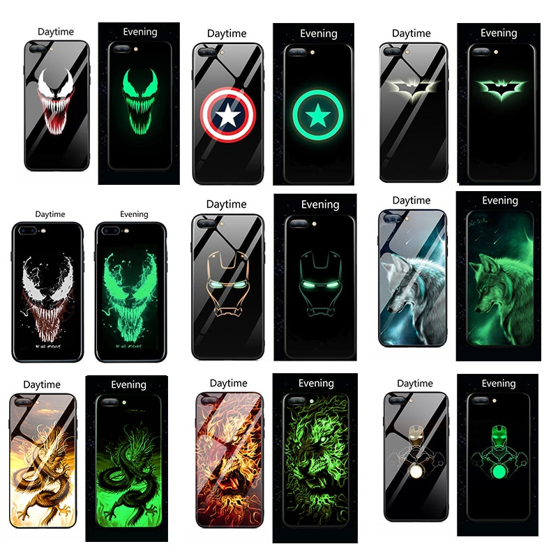 Marvel veneno luminosa de vidrio para Huawei P30 P20 pro amigo 20 Lite de hombre de hierro vengadores para Honor 20 pro 8X10 9 Lite
