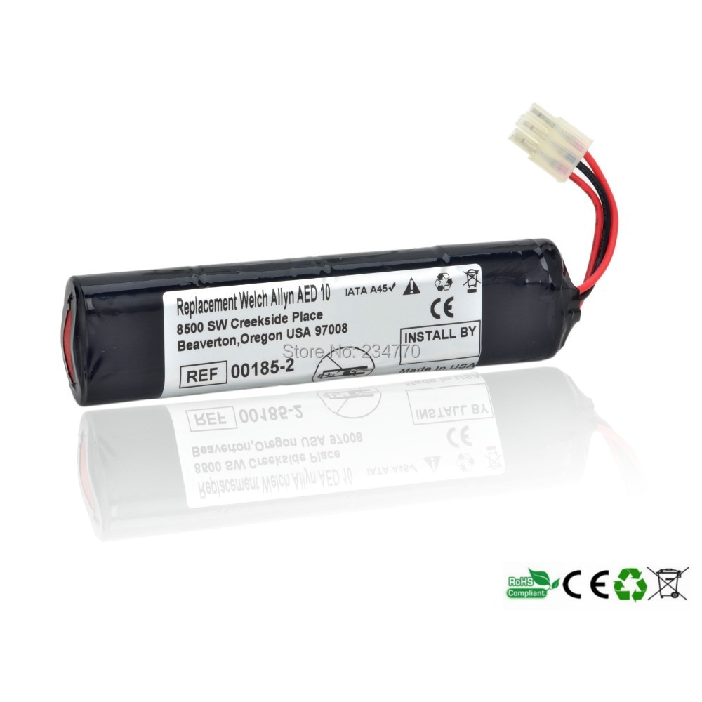 Reemplazo de la batería del desfibrilador para la batería médica de alta calidad Welch Allyn AED 10,00185-2,7919-2, B11387, no recargable