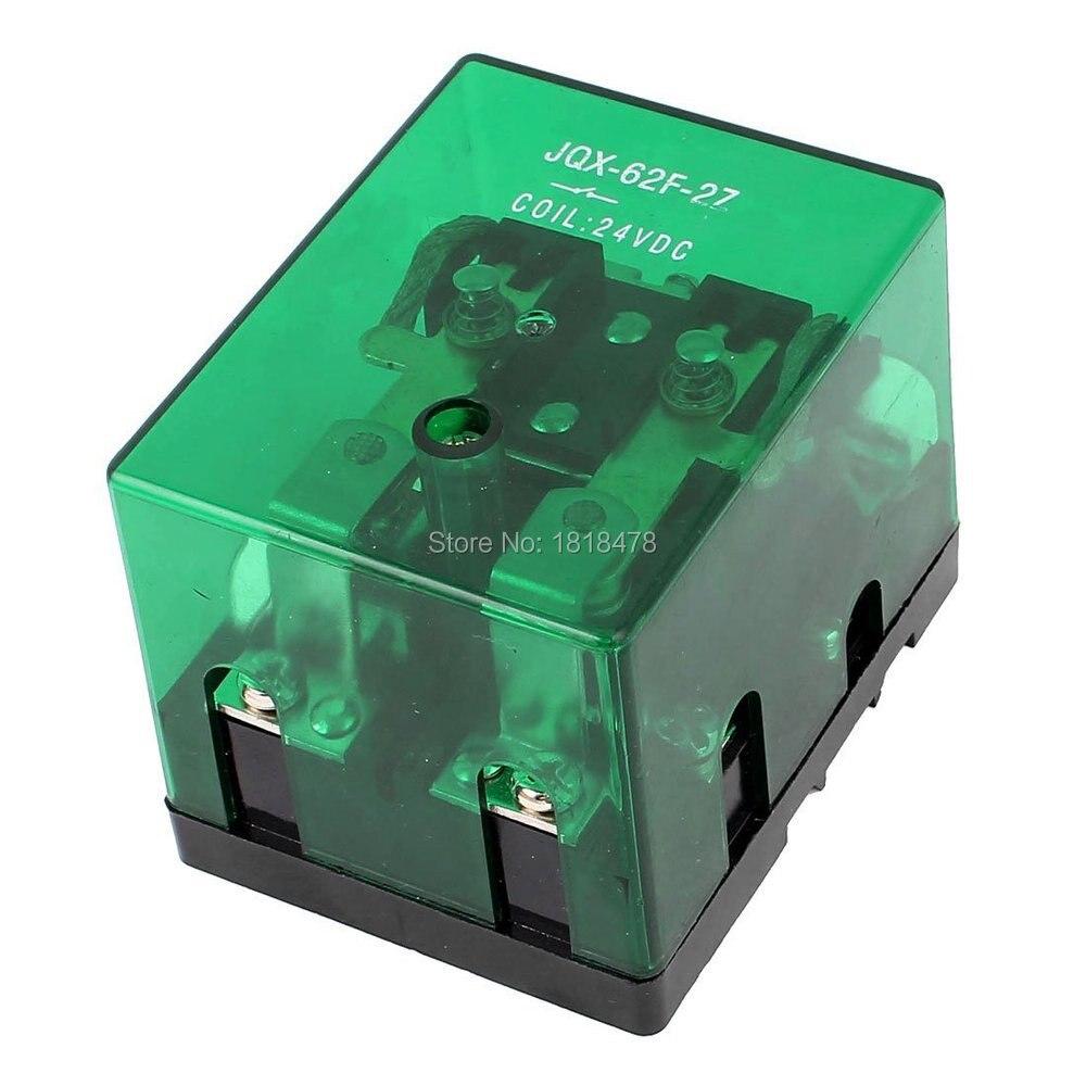 JQX-62F-2Z DC12V DC24V AC220V bobina DPDT relé de alta potencia 80A/240VAC 28VDC