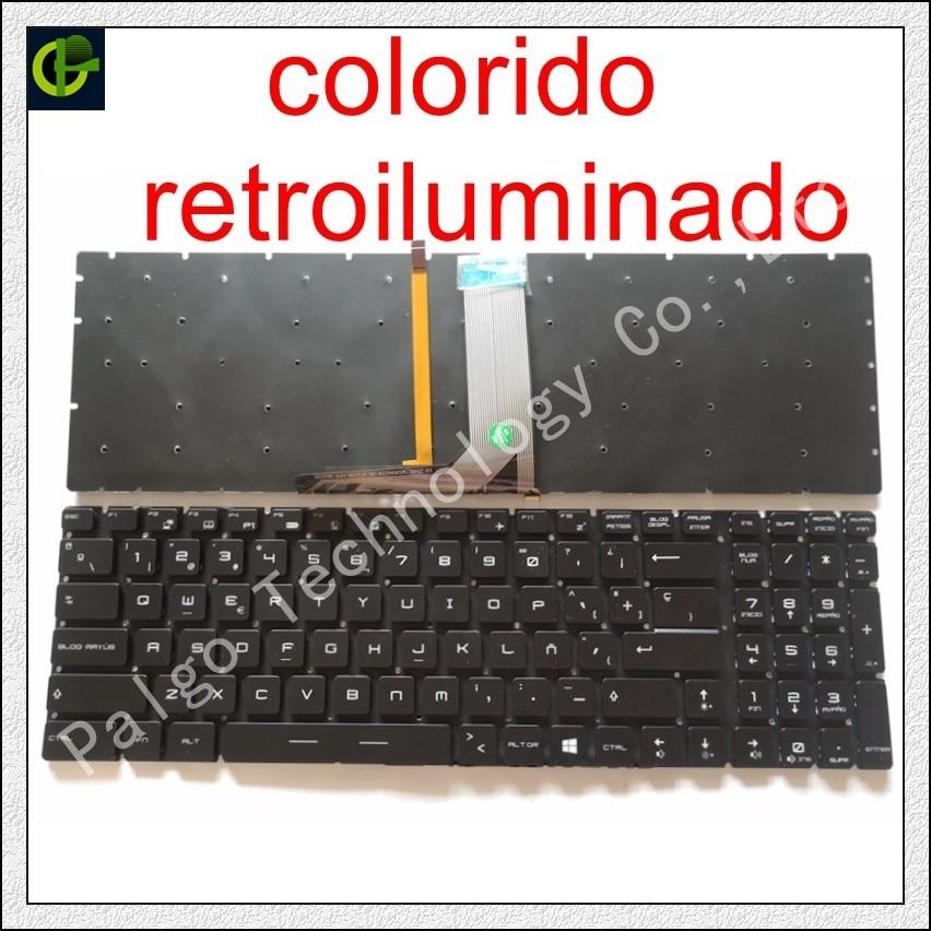 Испанская RGB подсветка красочная клавиатура для MSI MS-16K2 MS-16L2 MS-16JB MS-179B MS-1796 MS-1799 MS-16J9 MS-1792 латинская SP
