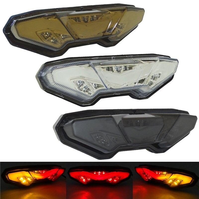 Waase دراجة نارية الخلفية الذيل ضوء الفرامل بدوره اشارات المتكاملة مصباح ليد لياماها الراسم 900 GT 2018 2019