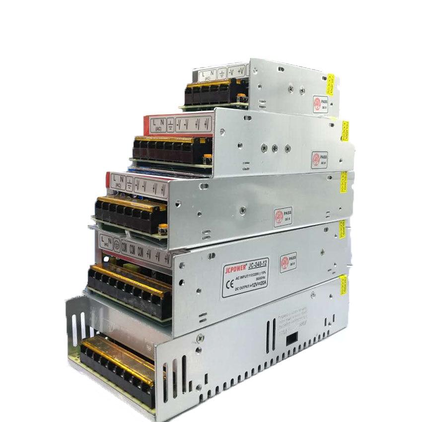 Transformador 220 v luz 12 v interruptor dc fuente de alimentación unidad para led tira adaptador led controlador 12 v fuente voltios 12 v 1A 2A 3A 5A 10A