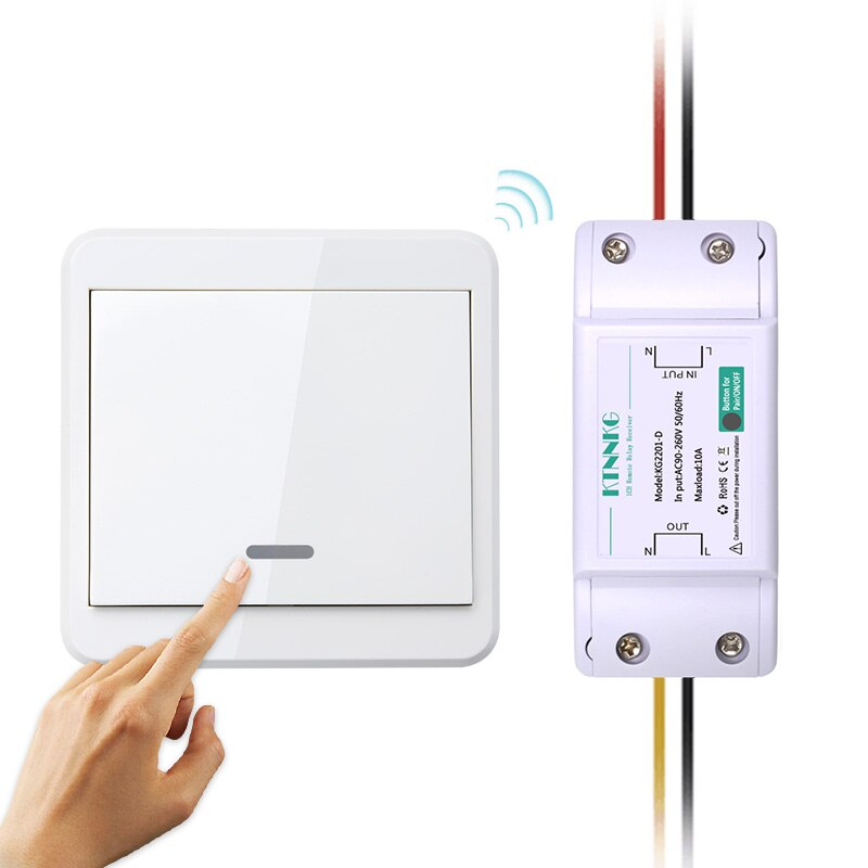 Interruptor de Control remoto inalámbrico con receptor de 220V CA, transmisor remoto para Panel de pared, luces de techo para salón o dormitorio, lámparas de pared inalámbricas TX