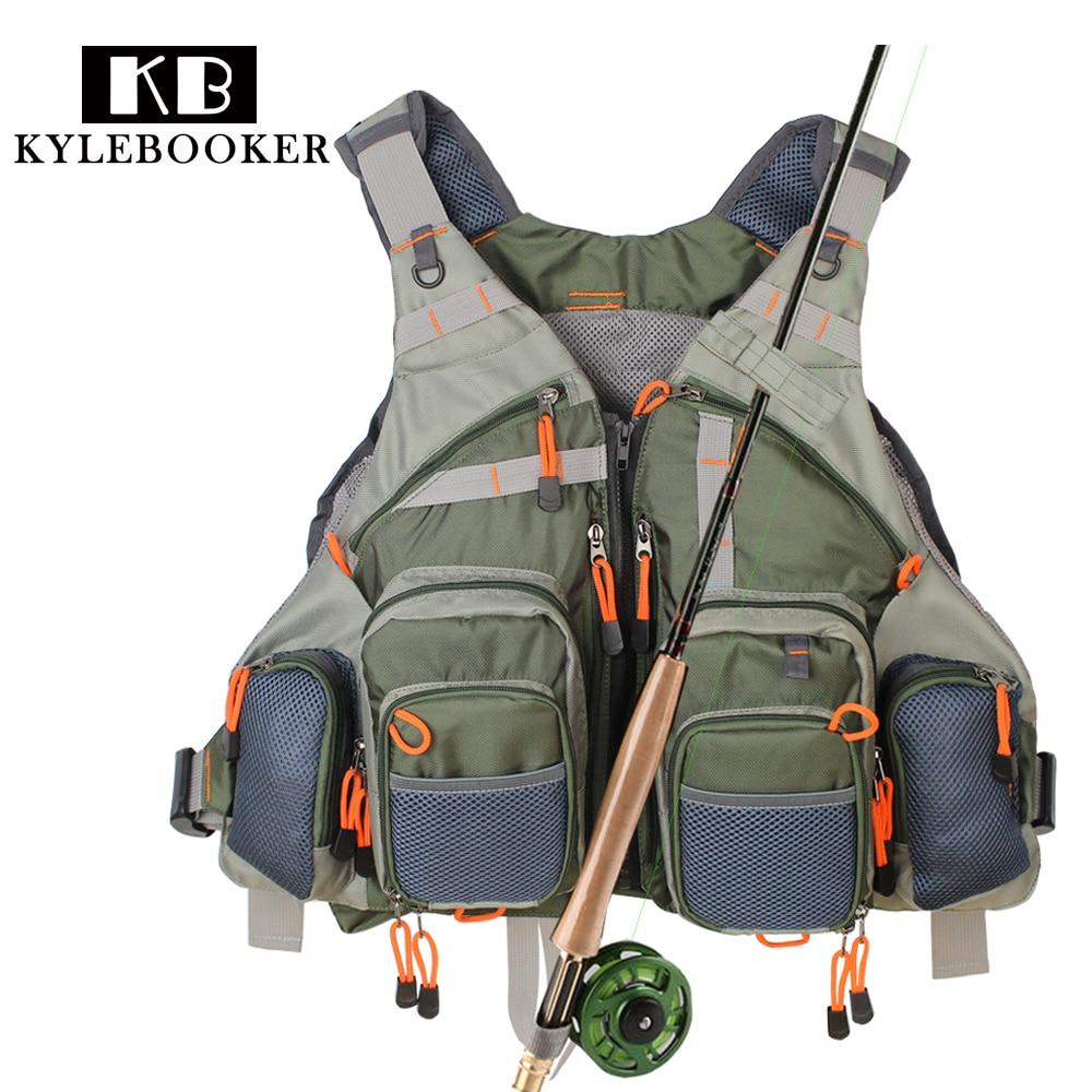 New men's Adjustable Fly Fishing Vest  Outdoor Trout Packs Mesh Fishing Vest Tackle bag Jacket clothes