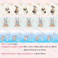 elephant and rabbit party printed grosgrain ribbon christmas decorations for home decoration accessories decoration mariage