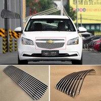 Alloy Aluminium Front Center Racing Mesh Bumper Grills Billet Grille Cover For Chevrolet Cruze 2015