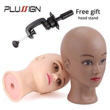 Perruque Afro tête bloc chauve avec tête de Mannequin   Pince libre avec supports, Plussign, grande tête de Mannequin de 20.5 pouces pour la fabrication de perruques