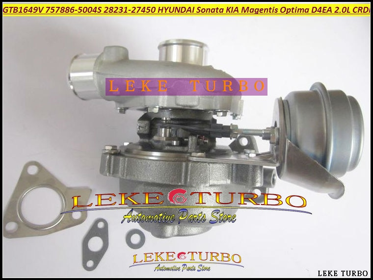Турбо GTB1649V 757886-0004 757886 28231-27450 Турбокомпрессор для HYUNDAI Sonata для KIA Magentis OPTIMA 05-D4EA 2.0L CRDi 140HP