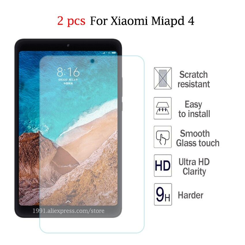 Temperado para Xiaomi Protetor de Tela 2.5d à Prova de Explosões 0.3mm à Prova de Riscos Vidro Mipad 4 Mipad4 8 Protector Filme Transparente 2 Pçs 9 h